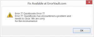 Quickbooks Error 77
